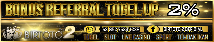 Bonus Referral Togel Up 2%